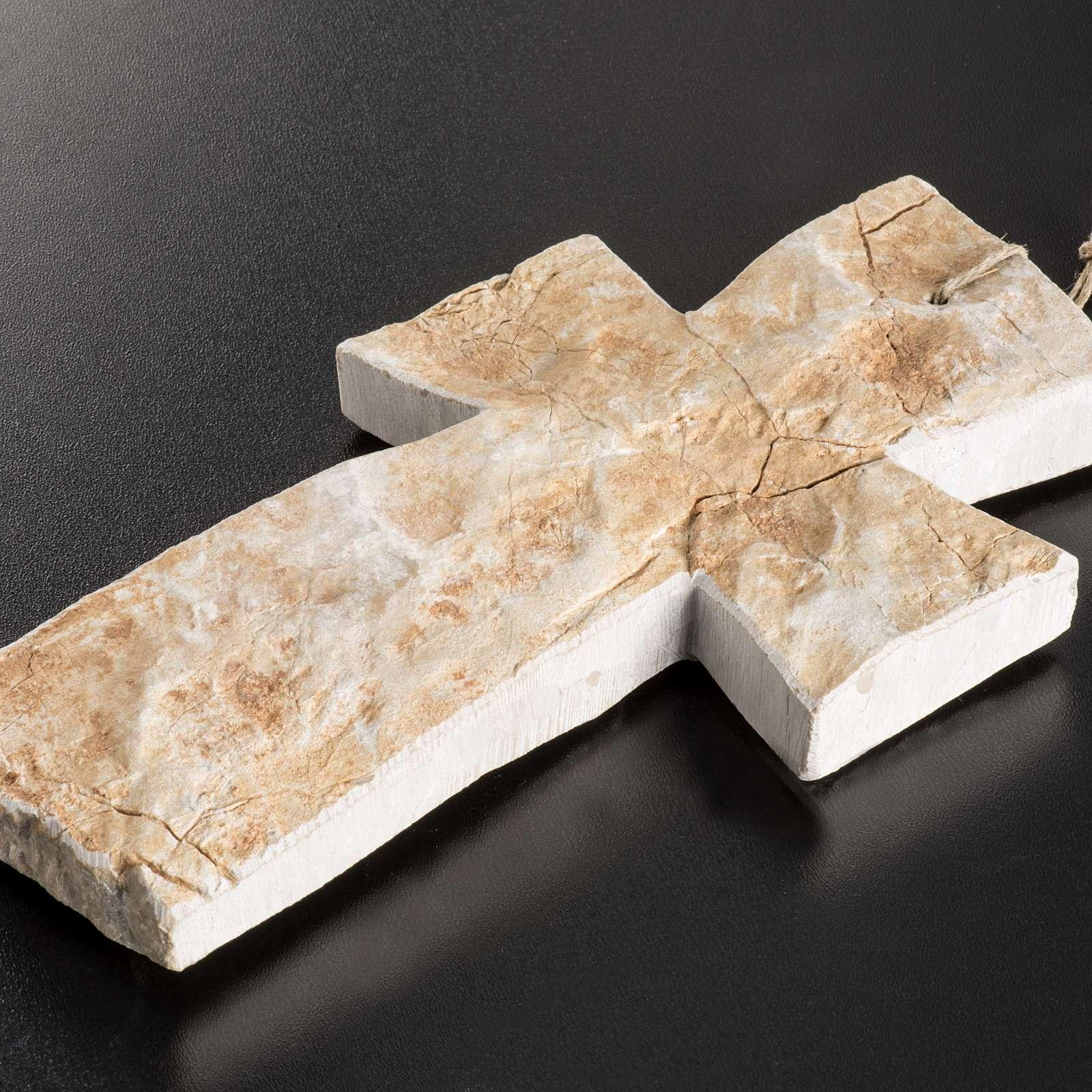 Croce pietra rossa Medjugorje 20X12 cm 4