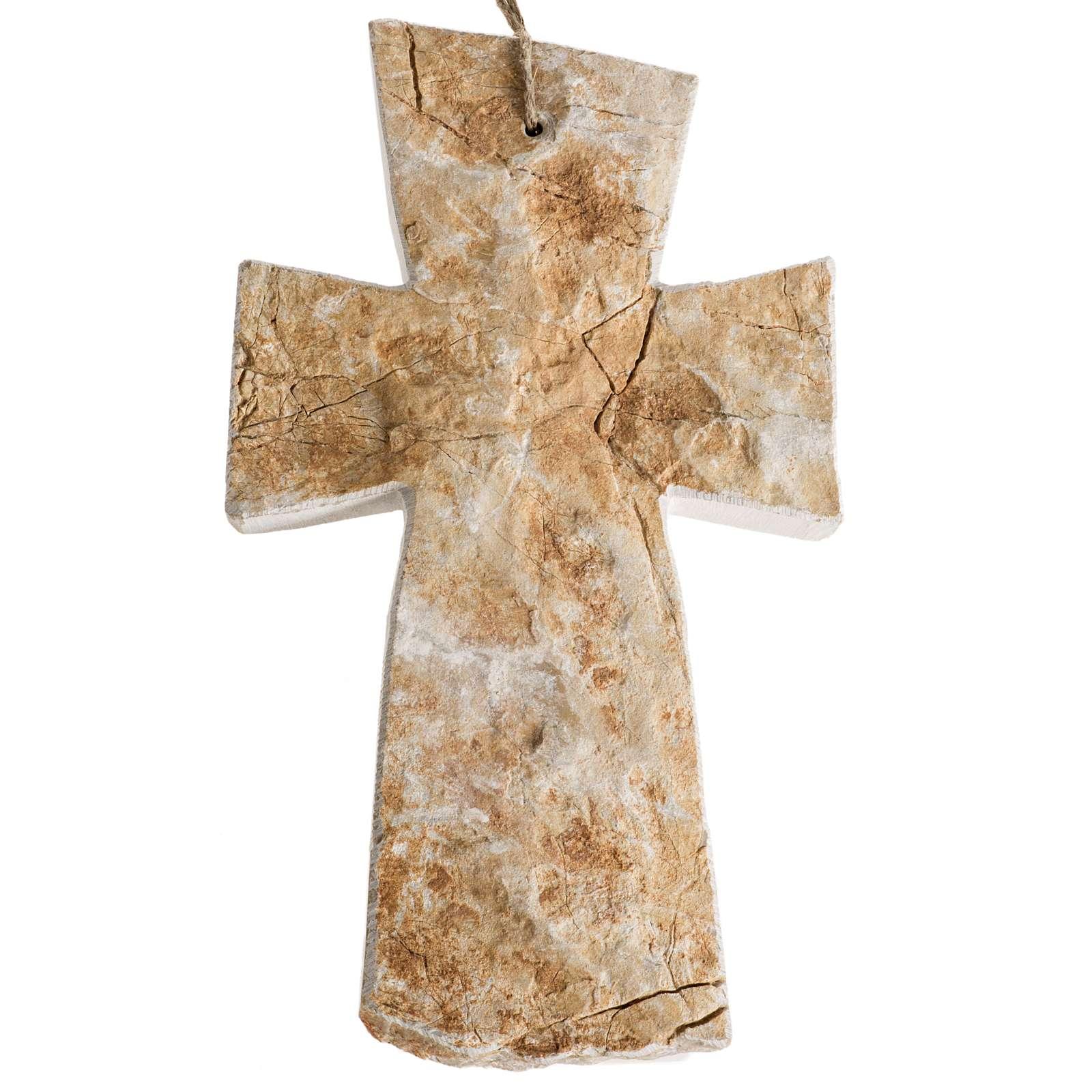 Krzyż kamień czerwony Medjugorje 20x12 cm 4