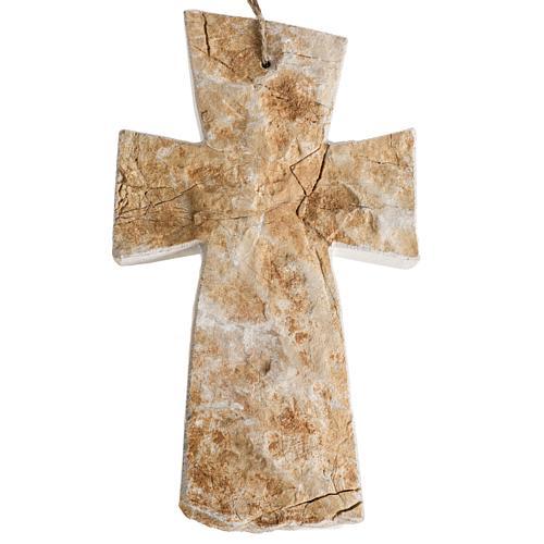 Krzyż kamień czerwony Medjugorje 20x12 cm 1