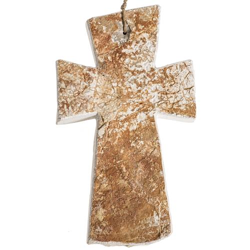 Krzyż kamień czerwony Medjugorje 20x12 cm 2