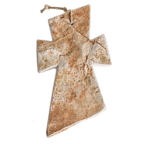 Krzyż kamień czerwony Medjugorje 13x8 cm 2