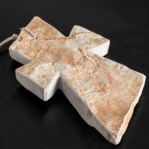 Krzyż kamień czerwony Medjugorje 13x8 cm 4