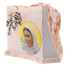 Image de la Vierge de Medjugorje sur pierre s4