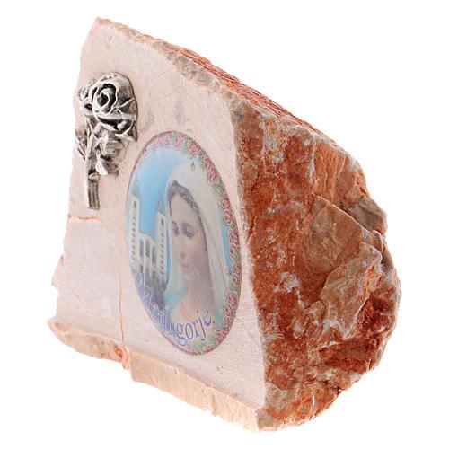 Image de la Vierge de Medjugorje sur pierre 2