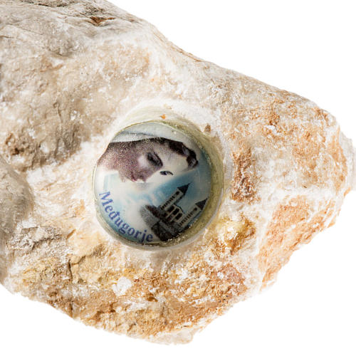 Medjugorje stone with image 5