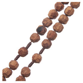 Medjugorje rosary with olive wood, cord, heart medal s3