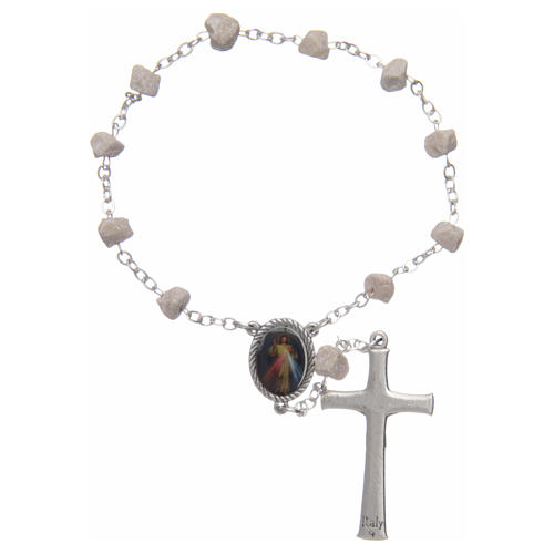 Medjugorje one-decade rosary, stone and chain 2