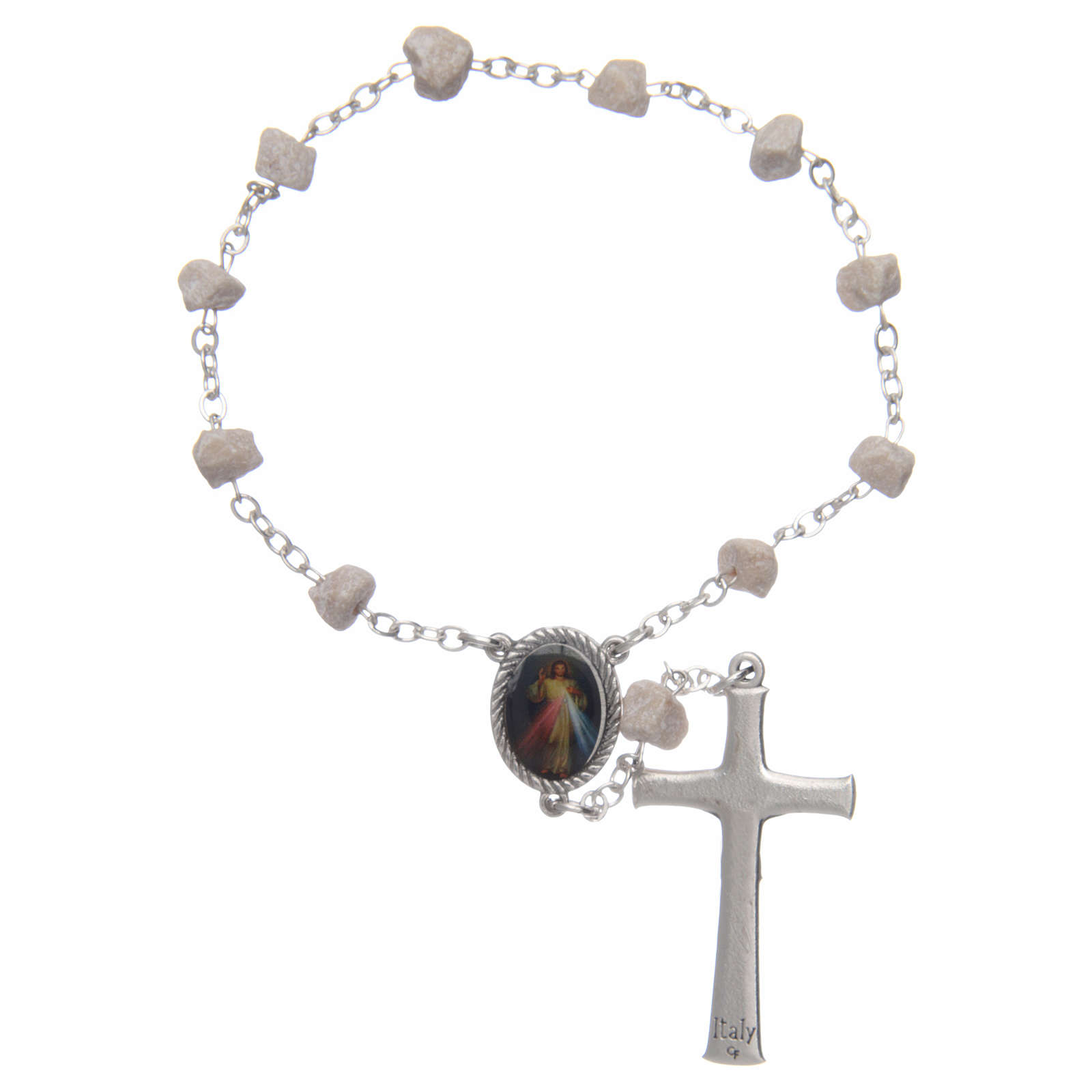 Medjugorje one-decade rosary, stone and chain 4