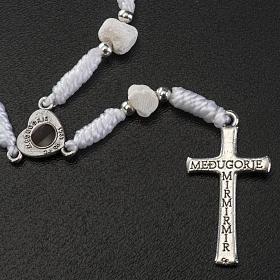 Dziesiątka Medjugorje kamień sznurek biały łącznik serce s3