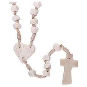Rosario Medjugorje pietra e corda crociera cuore s2