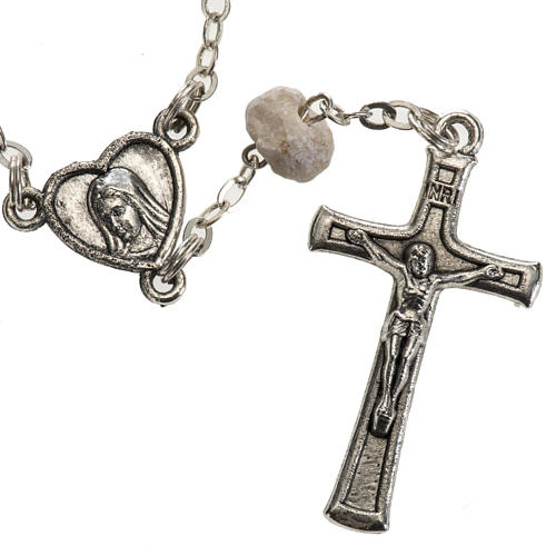 Chaplet in stone with Medjugorje soil 2