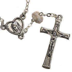 Chaplet in stone with Medjugorje soil s2