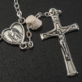 Chaplet in stone with Medjugorje soil s3