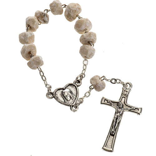 Chaplet in stone with Medjugorje soil 1