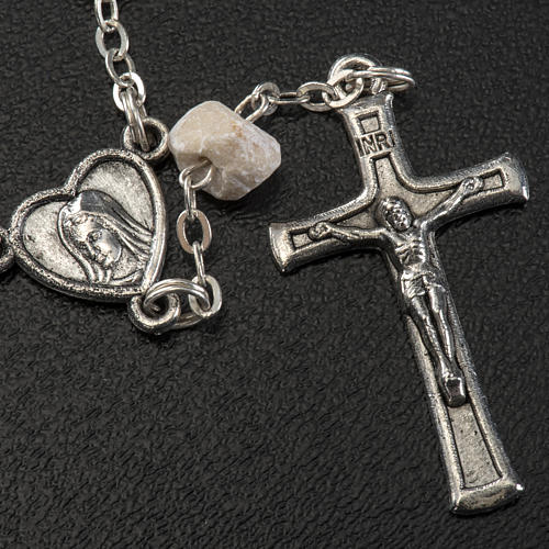 Chaplet in stone with Medjugorje soil 3
