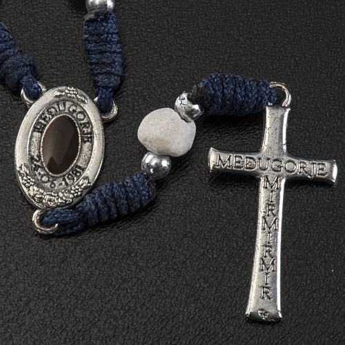 Chaplet with Medjugorje soil, blue cord and stone 3
