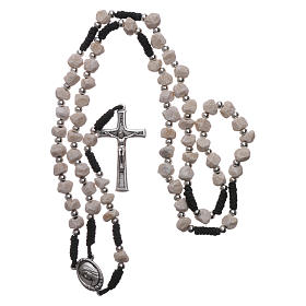 Rosary with Medjugorje stone and black cord s4