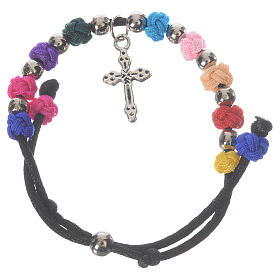 Bracelets, dizainiers: Bracelet dizainier Medjugorje corde