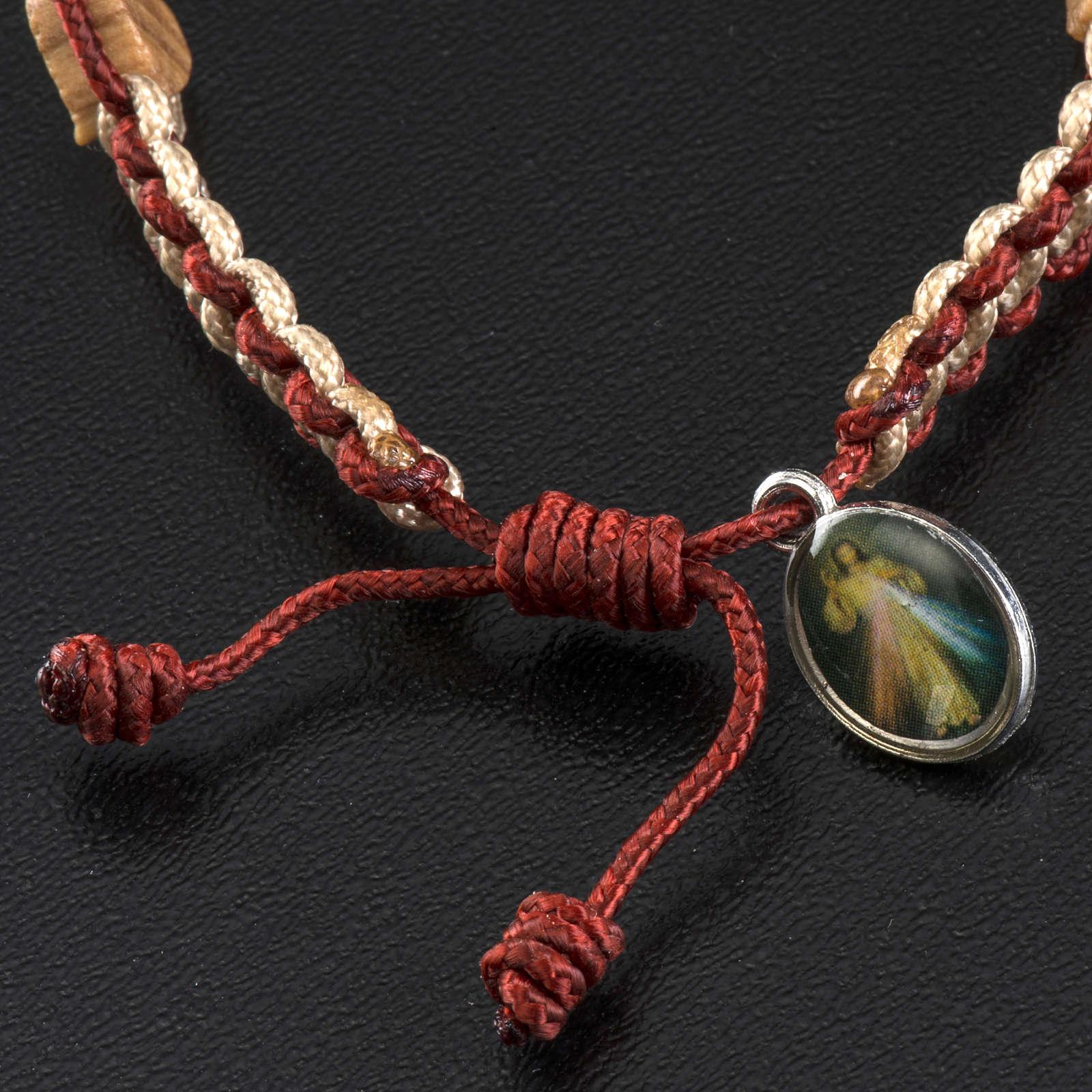 Bracciale Medjugorje olivo cuore corda 4