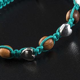 Pulsera Medjugorje olivo cuerda azul mar s4