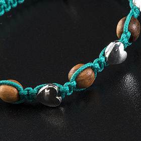 Bracciale Medjugorje olivo corda azzurro mare s4