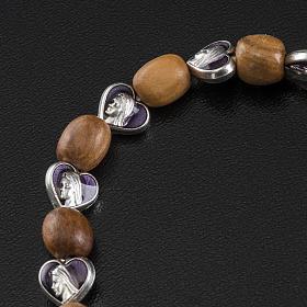 Medjugorje elastic bracelet in olive wood s4