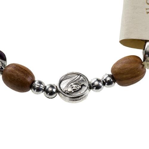 Medjugorje elastic bracelet in olive wood 2