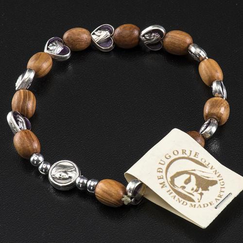 Medjugorje elastic bracelet in olive wood 3