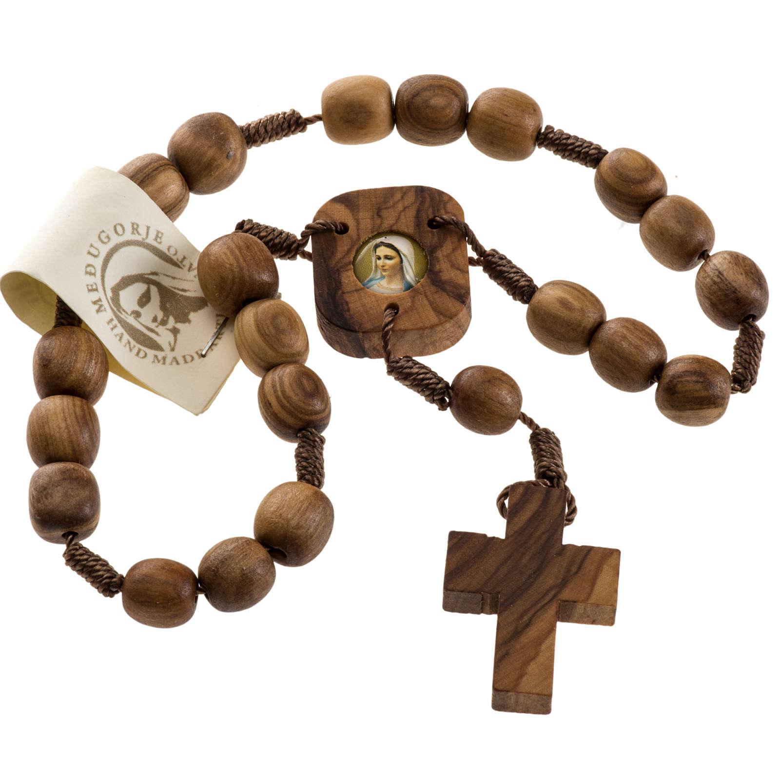 Medjugorje Peace chaplet in olive wood 4