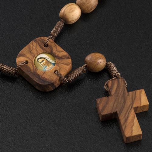 Medjugorje Peace chaplet in olive wood 3