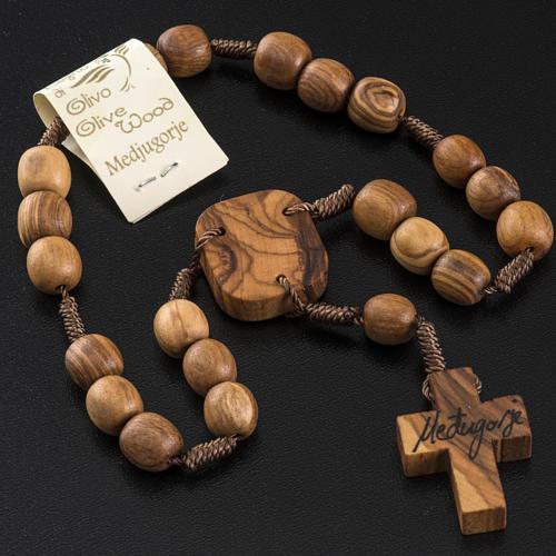 Medjugorje Peace chaplet in olive wood 5
