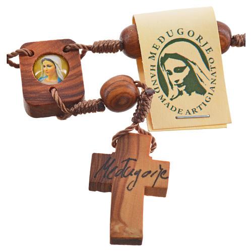 Medjugorje Peace chaplet in olive wood 6