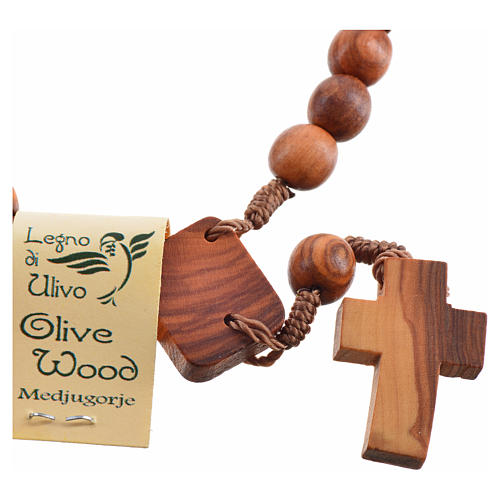Medjugorje Peace chaplet in olive wood 7