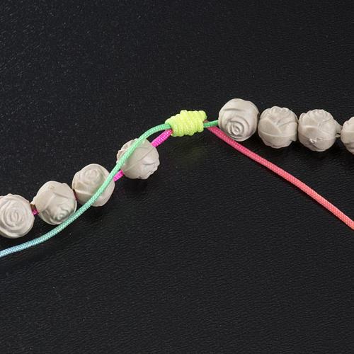 Rosario Medjugorje pvc roselline corda multicolor 5