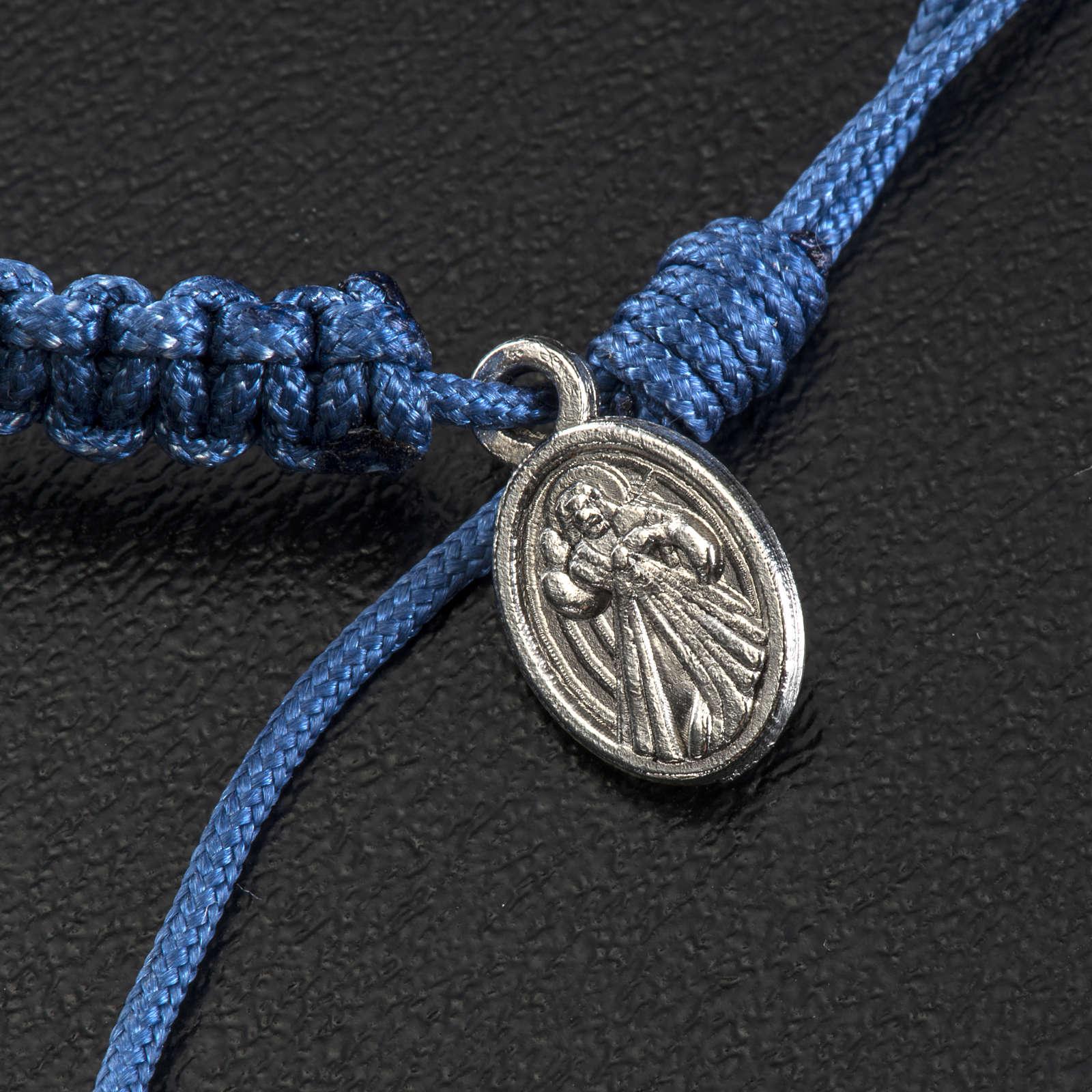 Bracelet Medjugorje pierre corde bleue 4