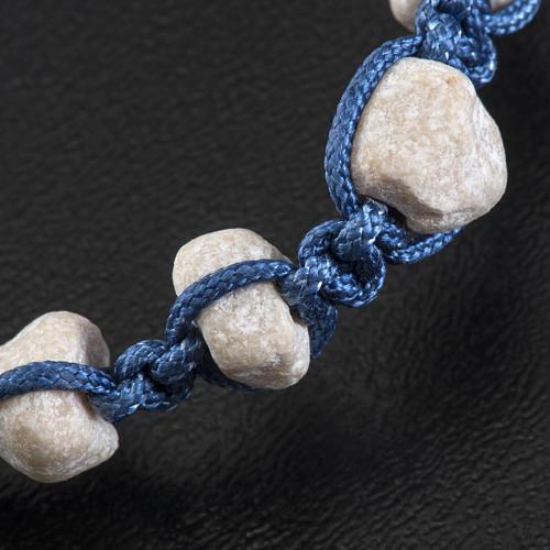 Bracelet Medjugorje pierre corde bleue 3