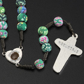 Medjugorje rosary beads in fimo with decoration s2