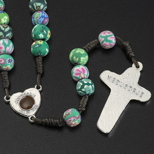 Medjugorje rosary beads in fimo with decoration 2
