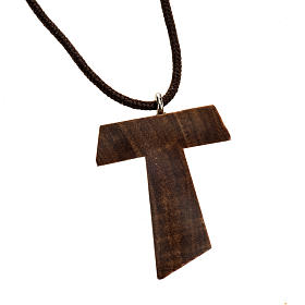 Rosaries and rosary holders: Medjugorje necklace in olive wood, Tau