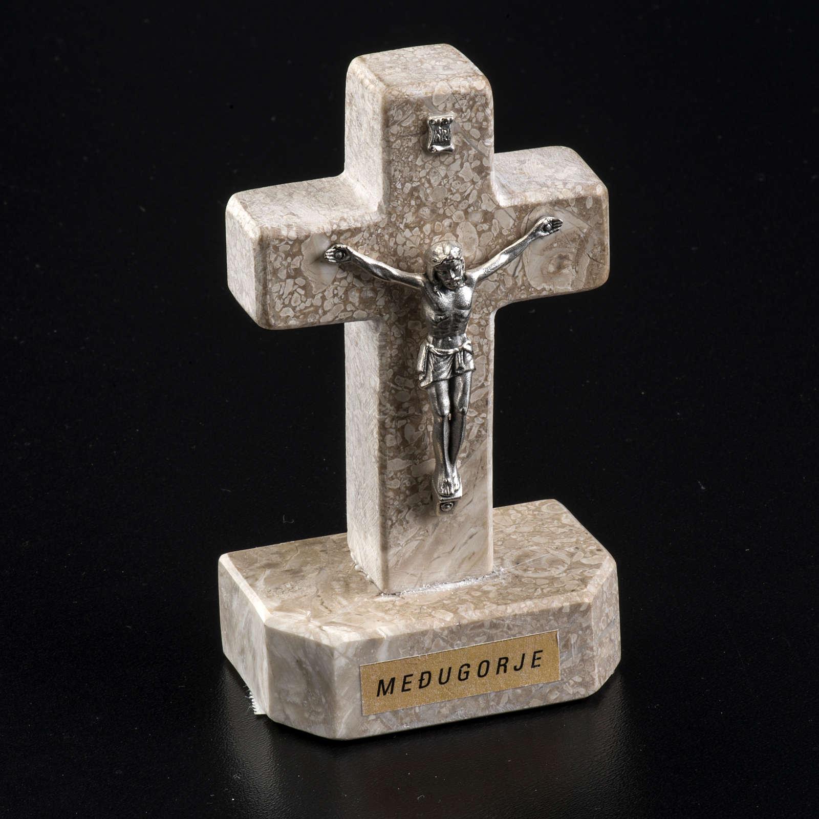 Croce Medjugorje marmo 11x6 4