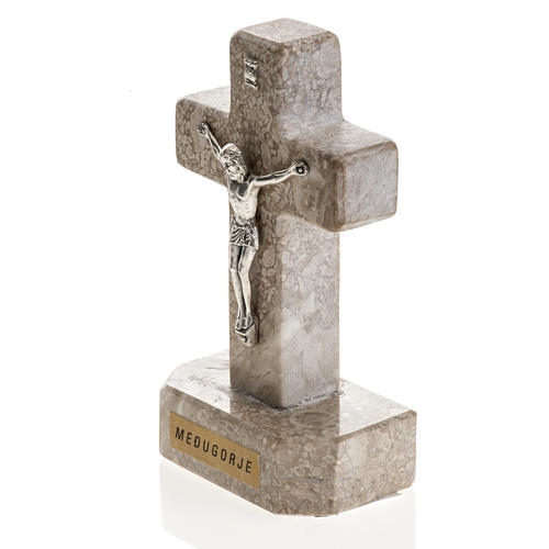 Croce Medjugorje marmo 11x6 2