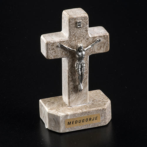 Croce Medjugorje marmo 11x6 3