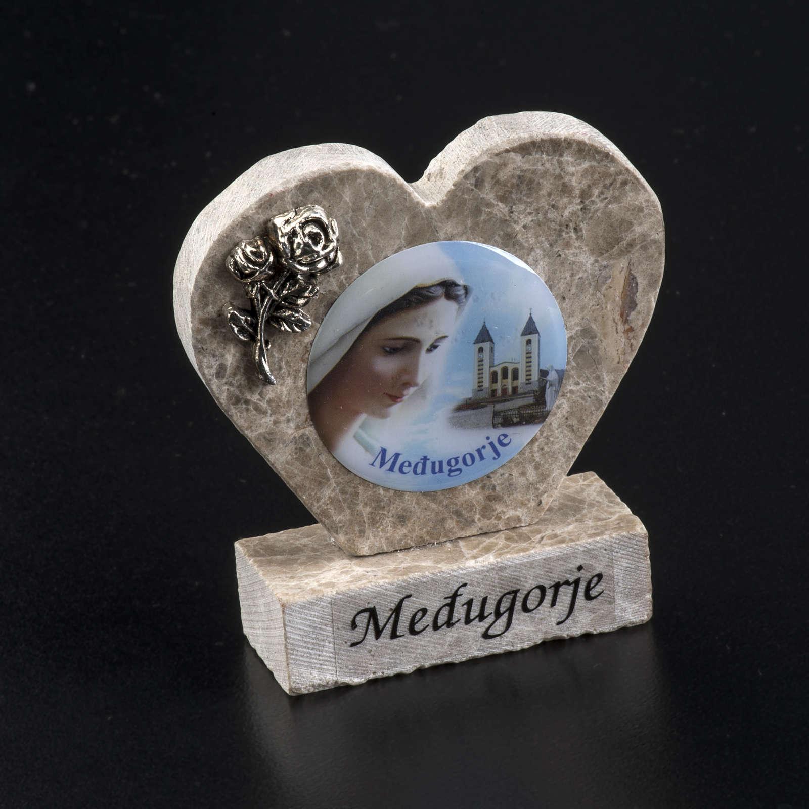 Cuore marmo Madonna di Medjugorje 4