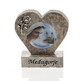 Cuore marmo Madonna di Medjugorje s1