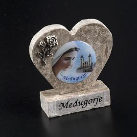 Cuore marmo Madonna di Medjugorje s2