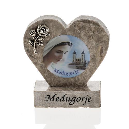 Cuore marmo Madonna di Medjugorje 1