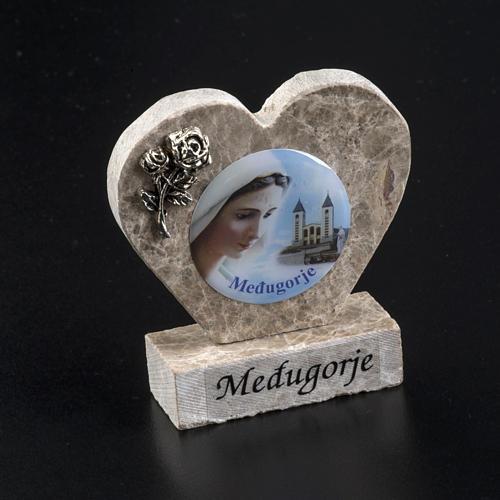 Cuore marmo Madonna di Medjugorje 2