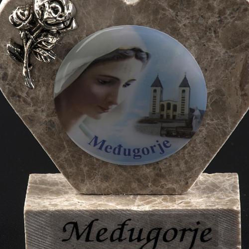 Cuore marmo Madonna di Medjugorje 3