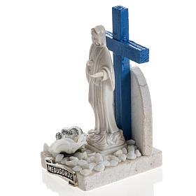 Cruz azul Medjugorje mármol 12 x 6 s2