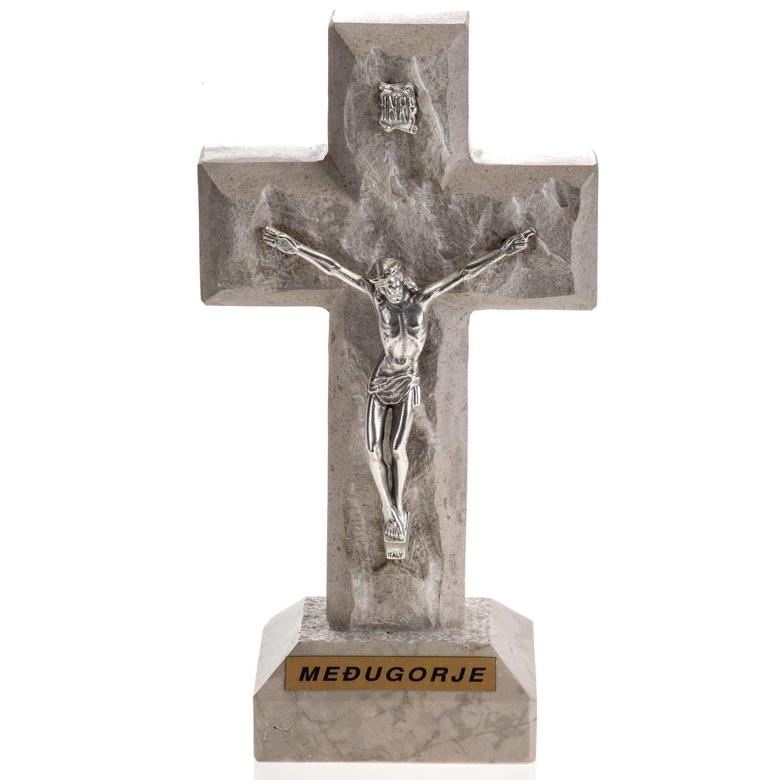 Croce Medjugorje marmo 19x10,5 4